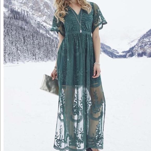 981202247f Altar d State Dresses   Skirts - ALTAR D STATE Marionette Maxi Dress Green